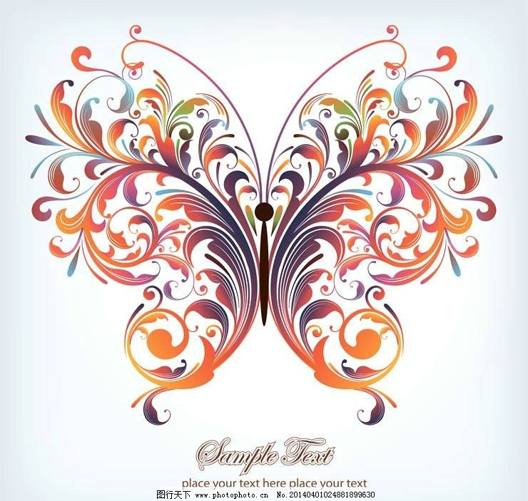 蝴蝶 蝴蝶标志 蝴蝶图标 蝴蝶logo 蝴蝶设计 彩蝶 彩蝶设计 彩蝶图标