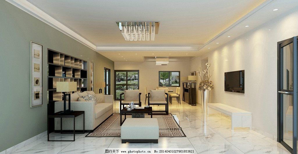 现代简约客厅 别墅      欧式 豪华 新古典 现代 大理石 米黄 沙发