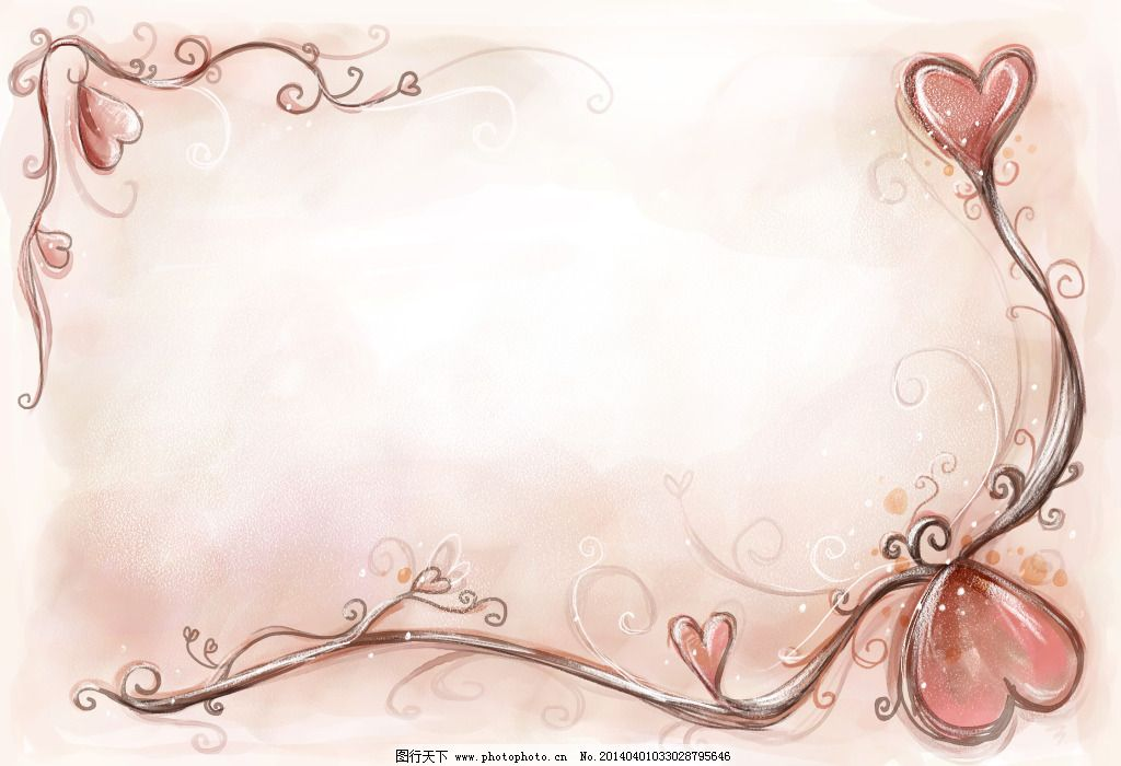 明信片模板 psd模板 爱情主题 手绘风格 psd源文件 其他psd素材
