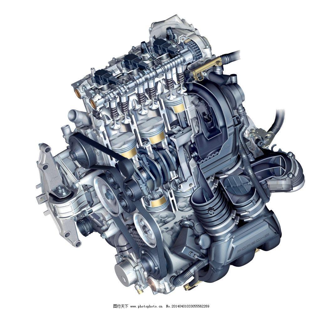 发动机图 结构图 剖面图