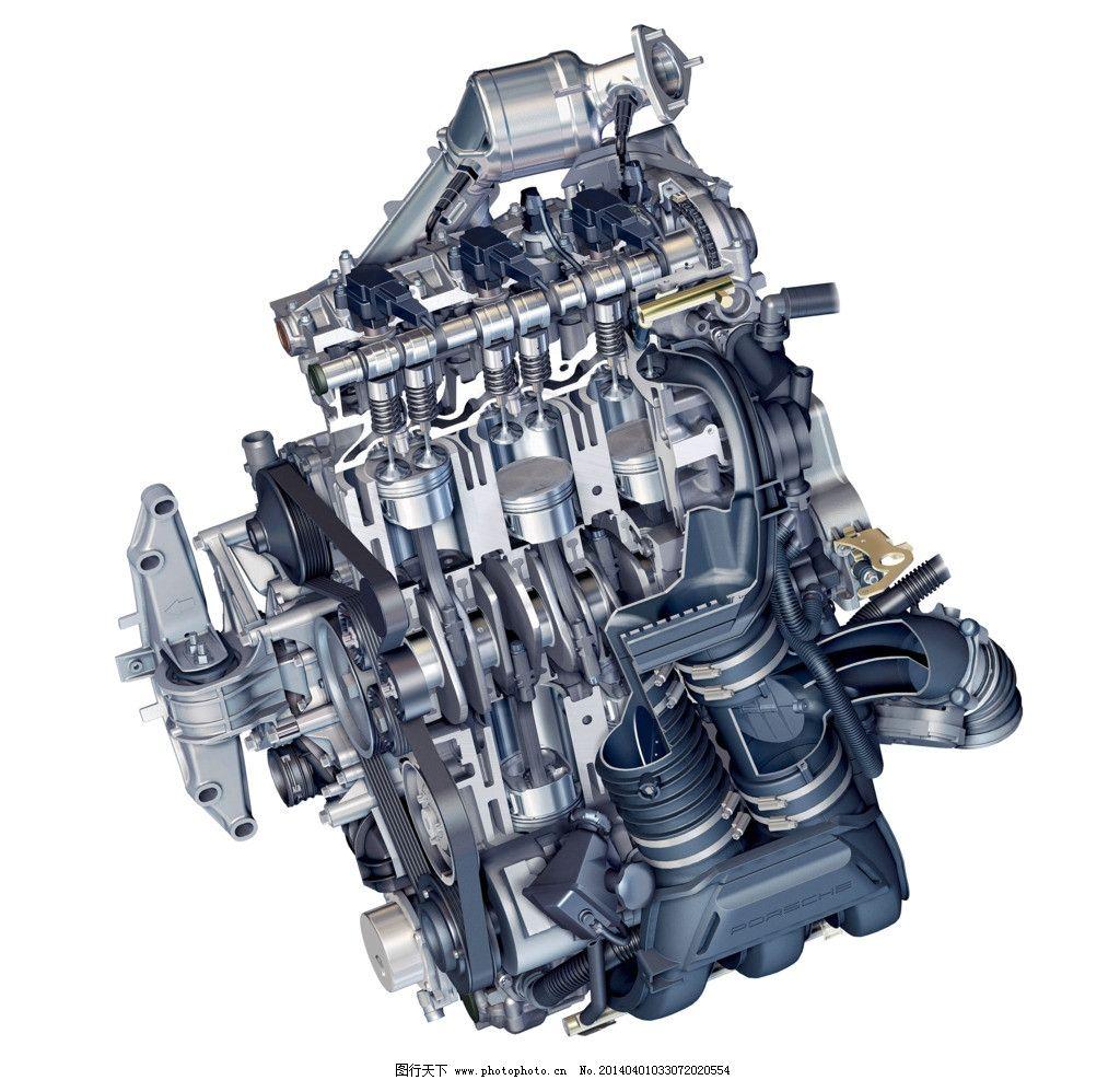 发动机内图 发动机 发动机图 结构图 剖面图 火塞图 psd分层素材 源