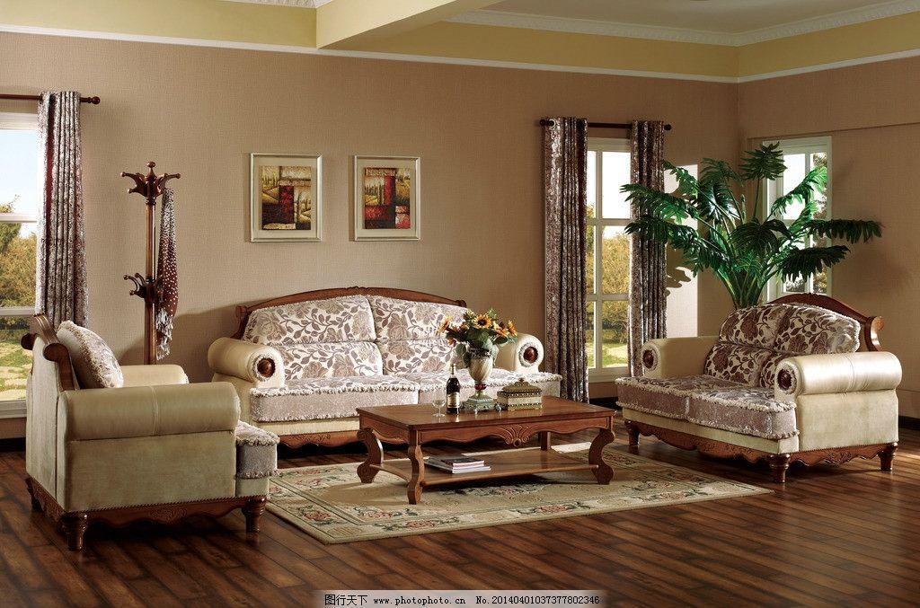 欧式家具 欧式风格 高档窗帘 茶几 皮沙发 绿色 地板 壁纸 红酒