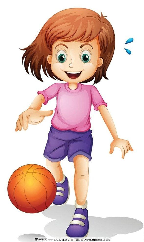 卡通动漫儿童小孩孩子 打篮球 儿童 孩子 小孩 小学生 小男孩 小女孩