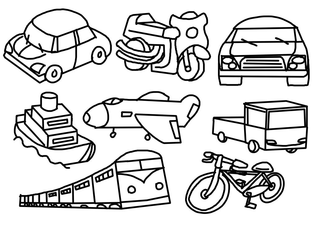 幼儿简笔画交通工具图片