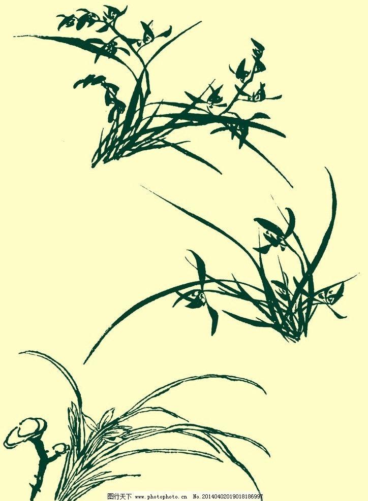 国画兰花 国画 山水画 水墨画 兰草 兰花 花草 花卉植物 艺术 中国