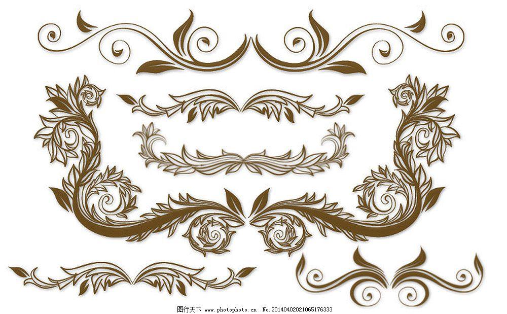 白色欧式花纹边框_欧式效果图