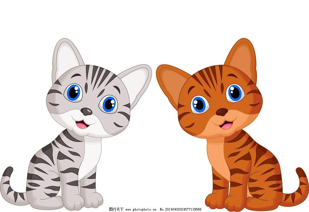 卡通猫 猫 猫咪 宠物 手绘 卡通 可爱 动物 表情 家禽家畜 生物世界