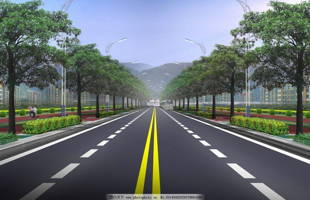 道路绿化设计 道路 绿化 设计 植物 配置 景观设计 环境设计 300dpi