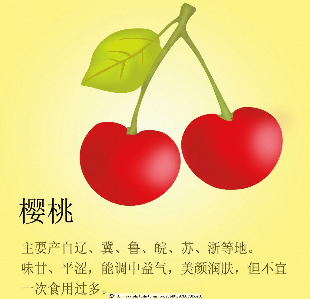 樱桃 食品 手绘樱桃 水果 食品广告 海报设计 广告设计模板 源文件