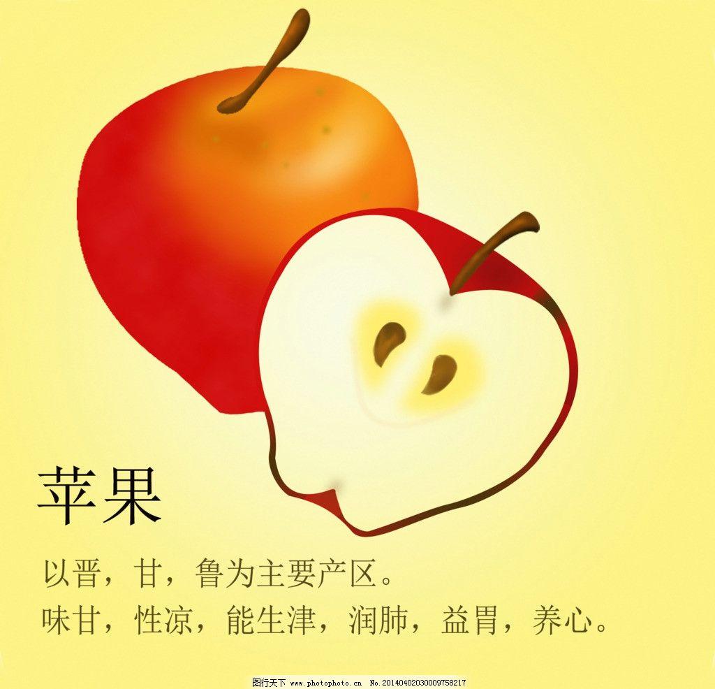 苹果 食品 手绘苹果 苹果素材 食品广告 海报设计 广告设计模板 源