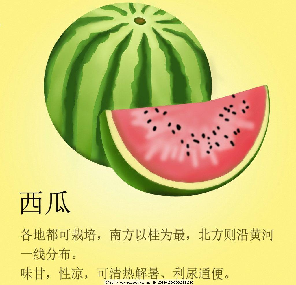 西瓜 食品 手绘西瓜 西瓜水果 食品广告 海报设计 广告设计模板 源