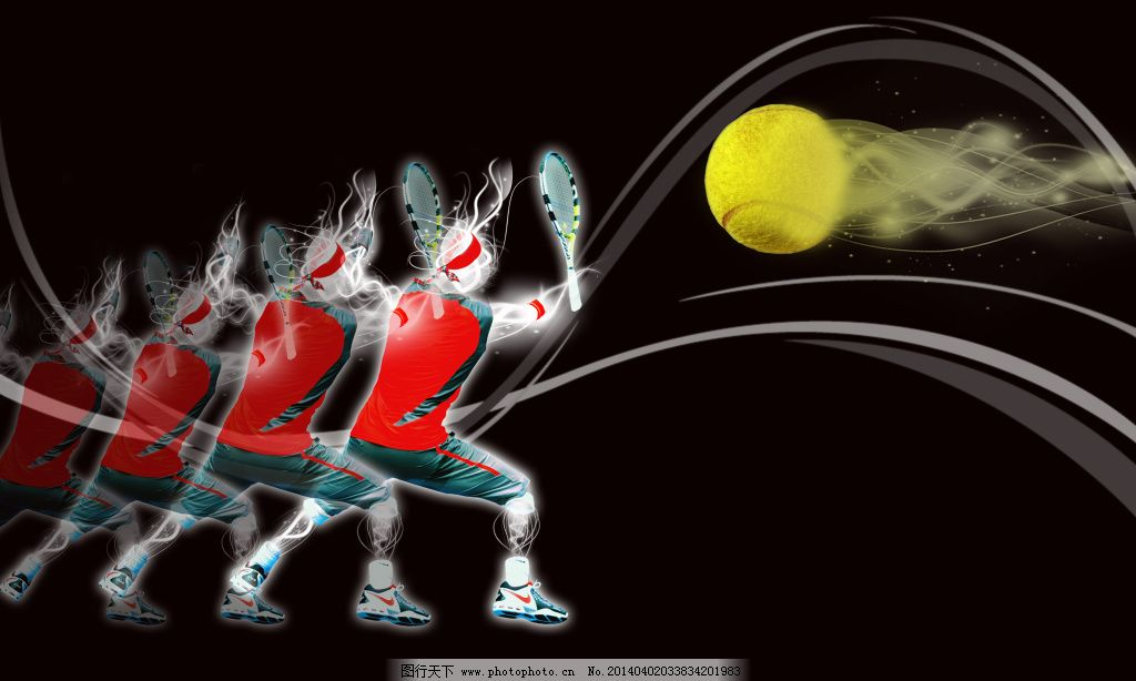 图片下载 网球运动/运动剪影网球图片下载