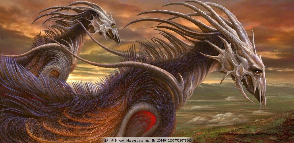 翼龙 水彩 cg 数字绘画 手绘 动漫壁纸 奇兽 神兽 龙 西方龙 巨龙