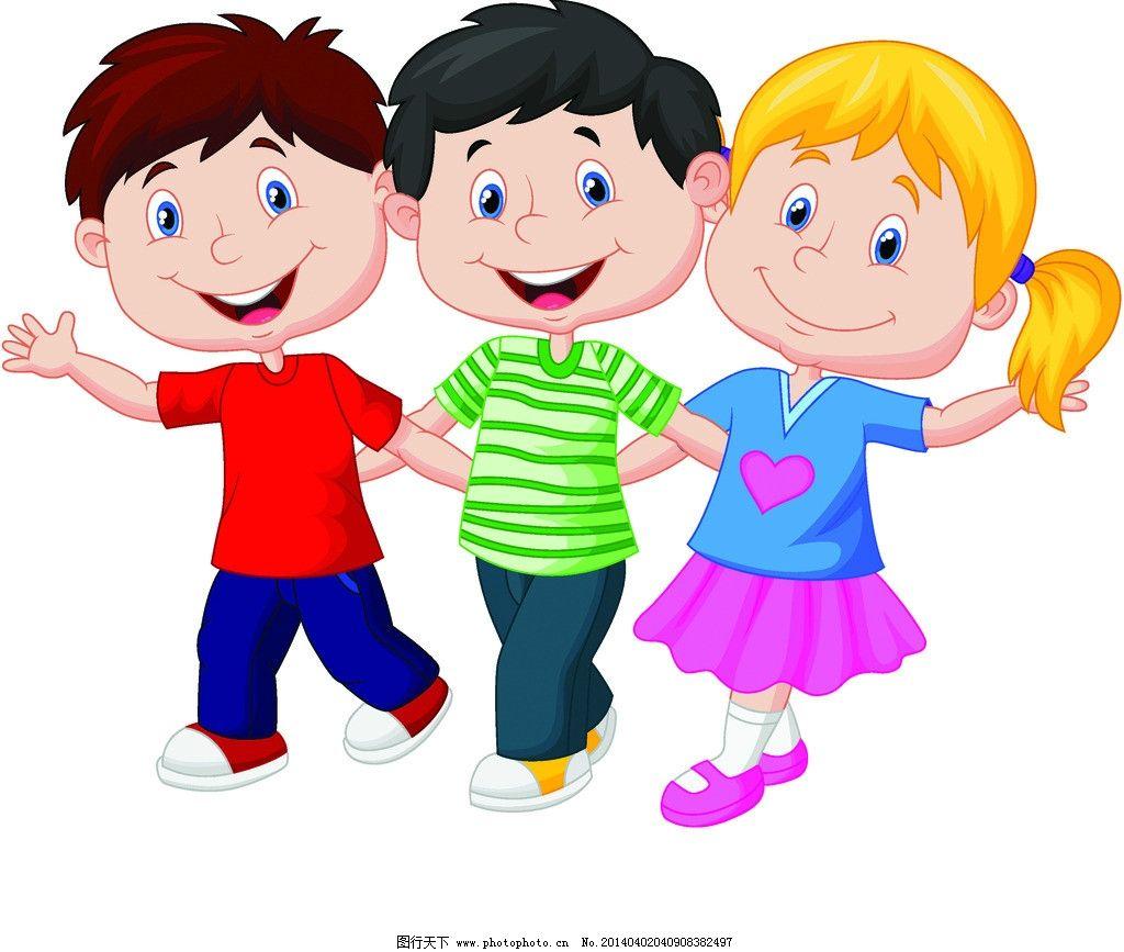 儿童 玩耍 卡通 卡通乐园 儿童绘画 手绘 小女孩 小男孩 卡通插画