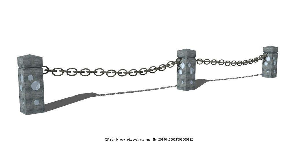 铁栏杆铁链图片