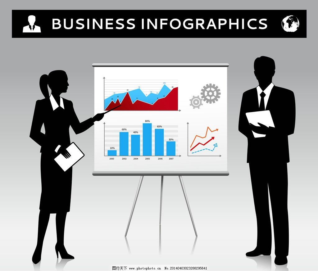 商务 人物 人士 卡通人物 秘书 图表 职业女性 商务金融 洽谈 白领