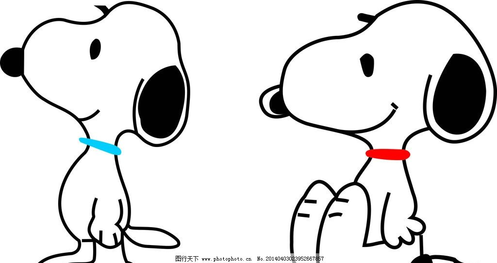 史努比 儿 童 动物 卡通 可爱 其他人物 矢量人物 矢量 cdr