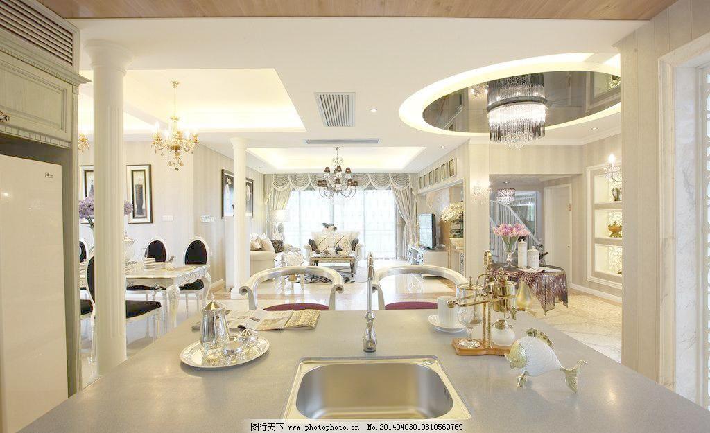 欧式古典风客厅 高档 简欧 室内设计 装修 欧式古典风客厅设计素材