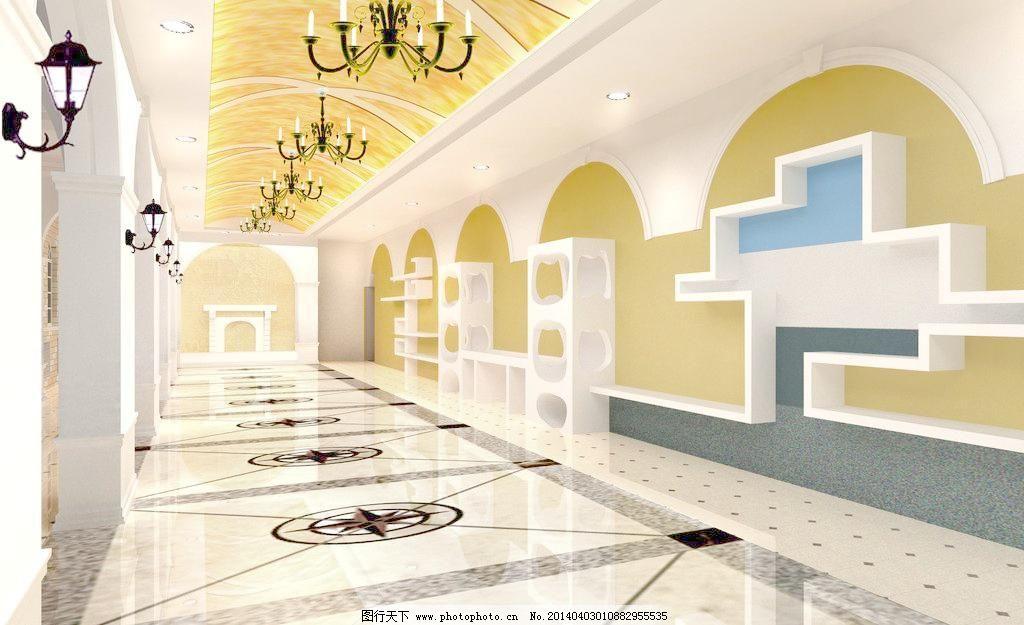室内效果图图片免费下载 3d设计 3d作品 72dpi jpg 教室 欧式 设计