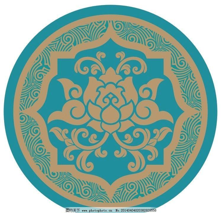 花纹荷花传统纹样 花纹 荷花 传统纹样 图案 地面拼花 花纹花边 底纹