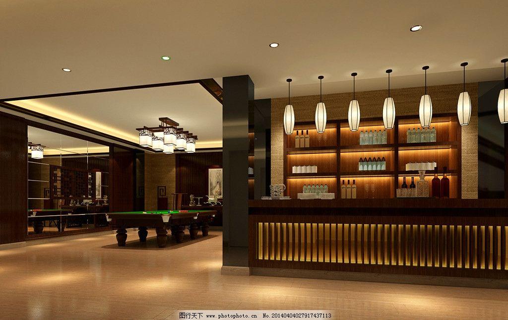 地下室 新中式 风格 咖啡色 室内设计 环境设计 设计 72dpi jpg图片