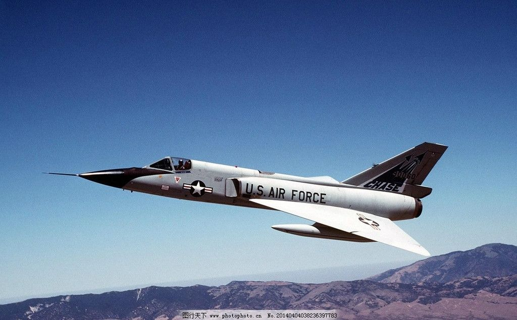 f106战斗机 二代飞机 喷气式 飞行员 截击机 三角标枪 美国 美军 导弹