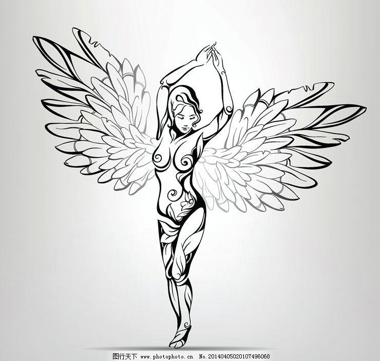 天使 翅膀 欧美动画 欧美动漫 动画设计 动漫设计 时尚背景 绚丽背景
