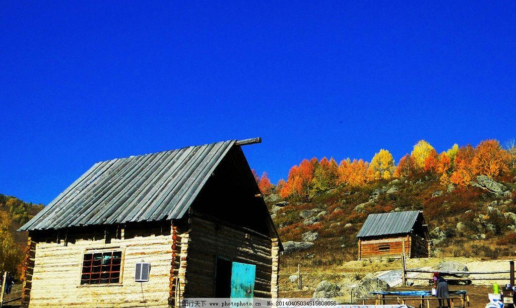 新疆牧区小木屋 新疆风情 新疆风景 新疆牧区图 田园背景图 木屋 田园
