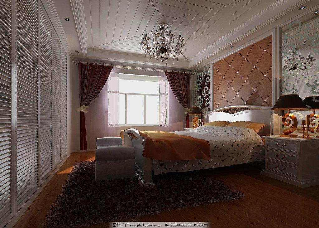 卧室效果图 欧式