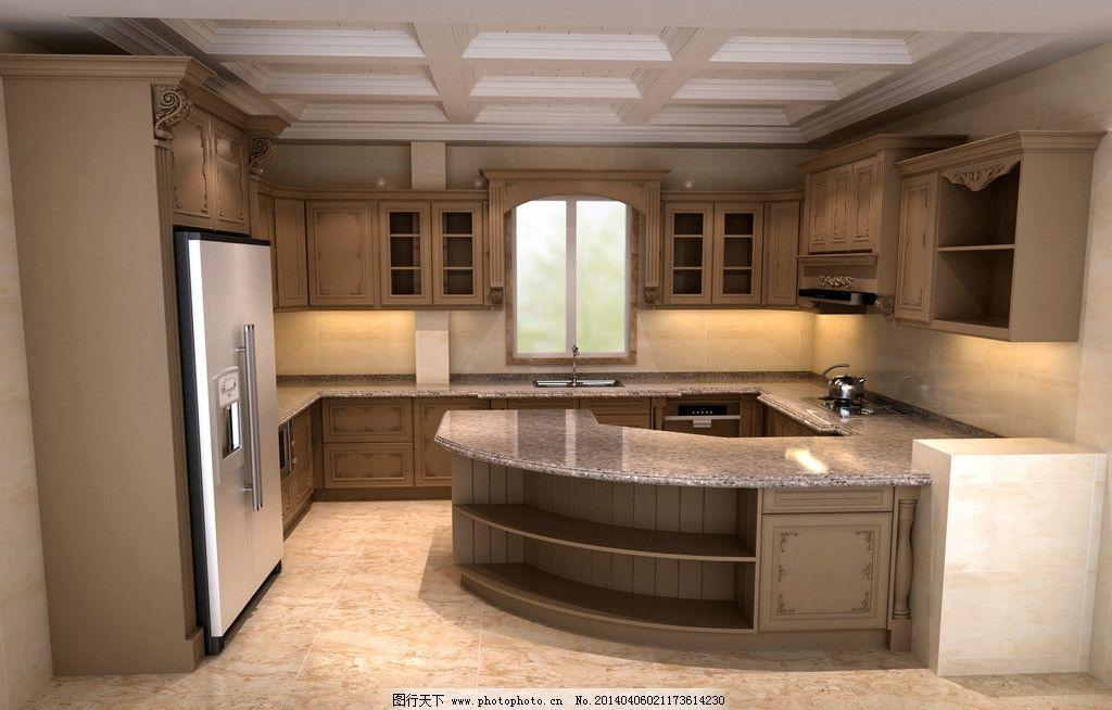 欧式厨房 金做旧 土豪金      橱柜 法式金 3d作品 3d设计 设计 72dpi图片