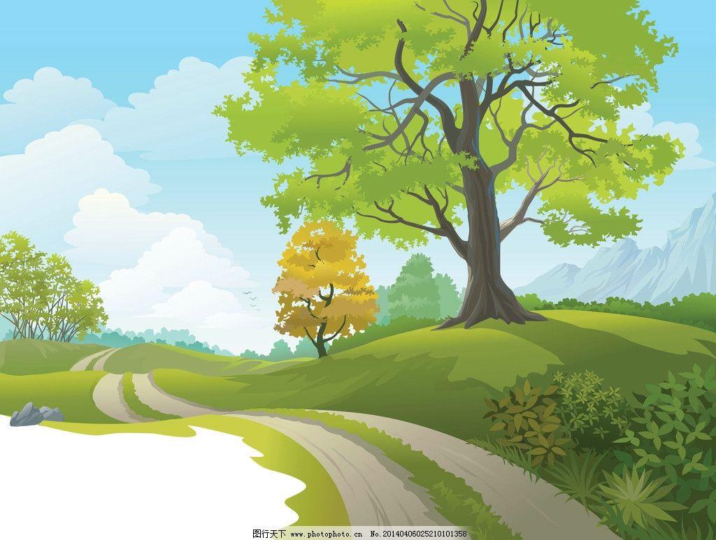 动漫 场景 卡通 flash 森林 绿色 树木 树叶 高山 悬崖 山地 俯视图片