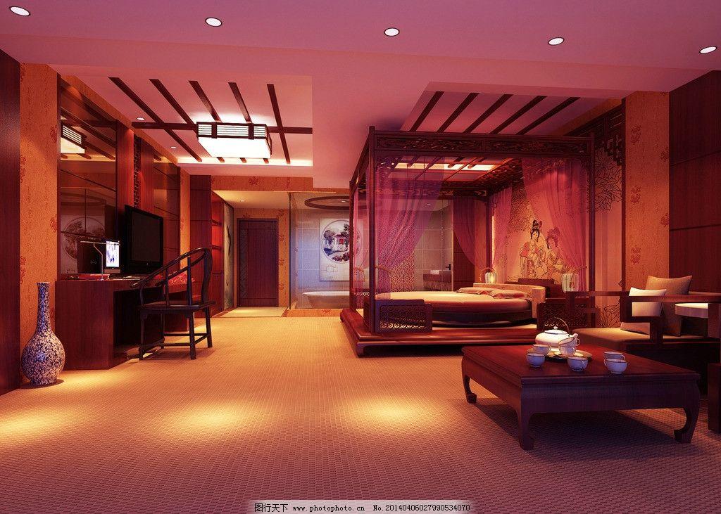 中式风格的客房图片图片