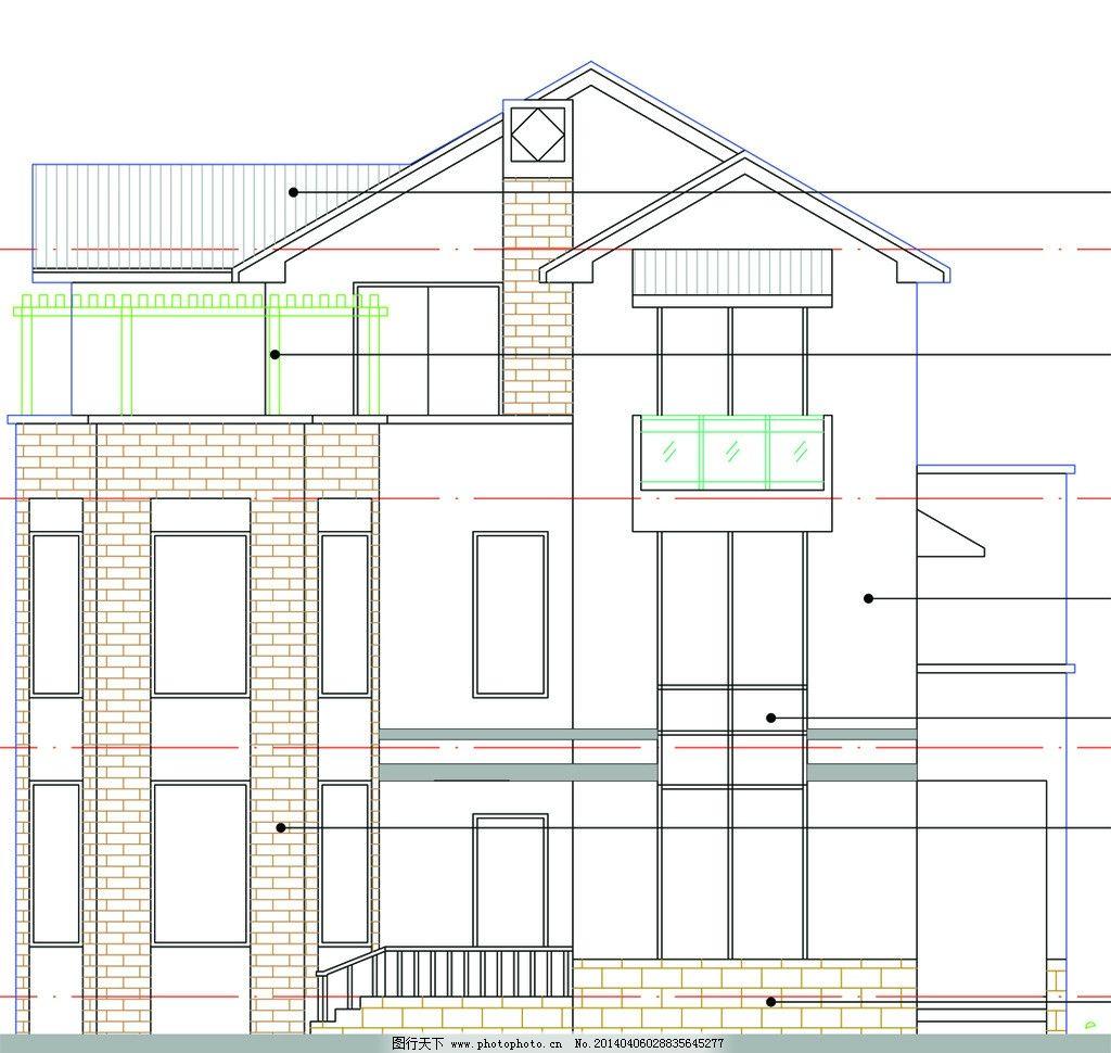 新农村别墅住宅 新农村别墅 住宅 立面图 平面图 全套施工图 户型图