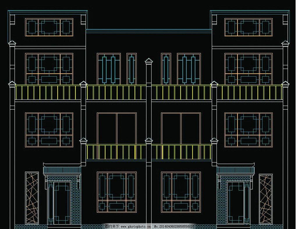 新农村别墅施工图 新农村别墅 住宅 立面图 平面图 全套施工图 户型