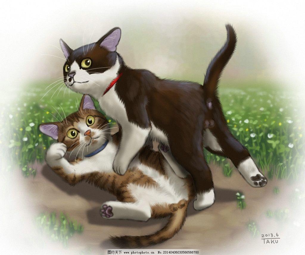 手绘 猫图片