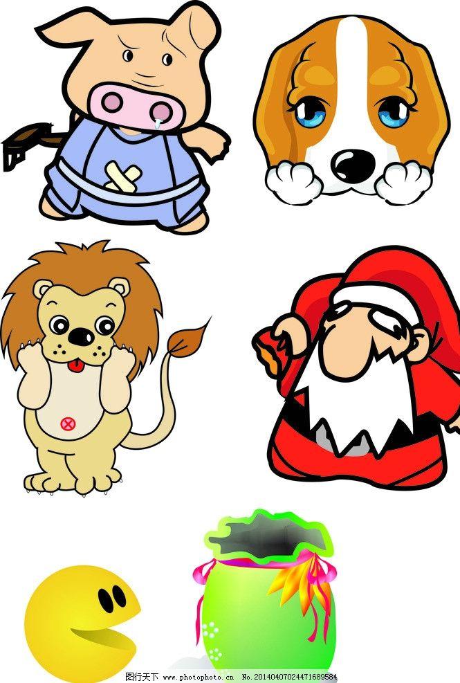 各种动物矢量图图片