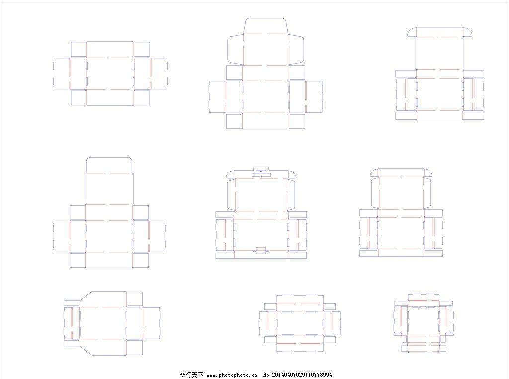 自锁式托盘盒刀模图片_包装设计_广告设计_图行天下图片