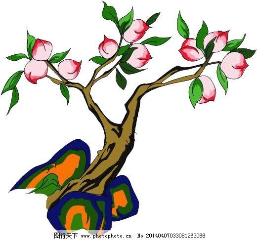 水果桃子 水果桃子免费下载 画 免抠素材 手绘图片