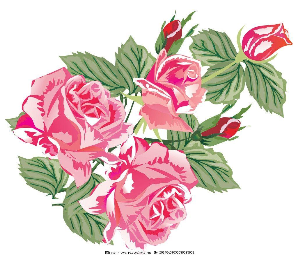 花卉 鲜花 手绘花纹 精美花纹 牡丹贴图 卡通 花开富贵 移门画 简洁