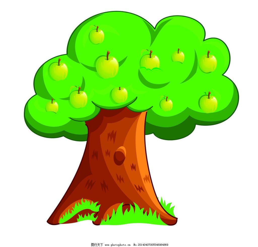 苹果树 苹果树免费下载 卡通 幼儿园 矢量图 其他矢量图
