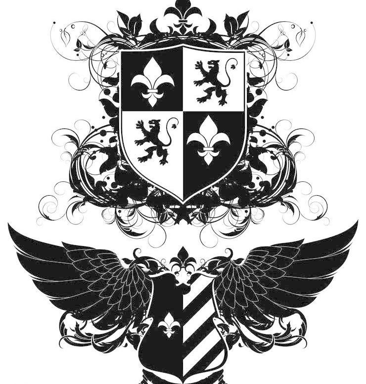 传统花纹 宫廷花纹 古典花纹 古典图标 花纹logo 花纹背景 欧式花纹