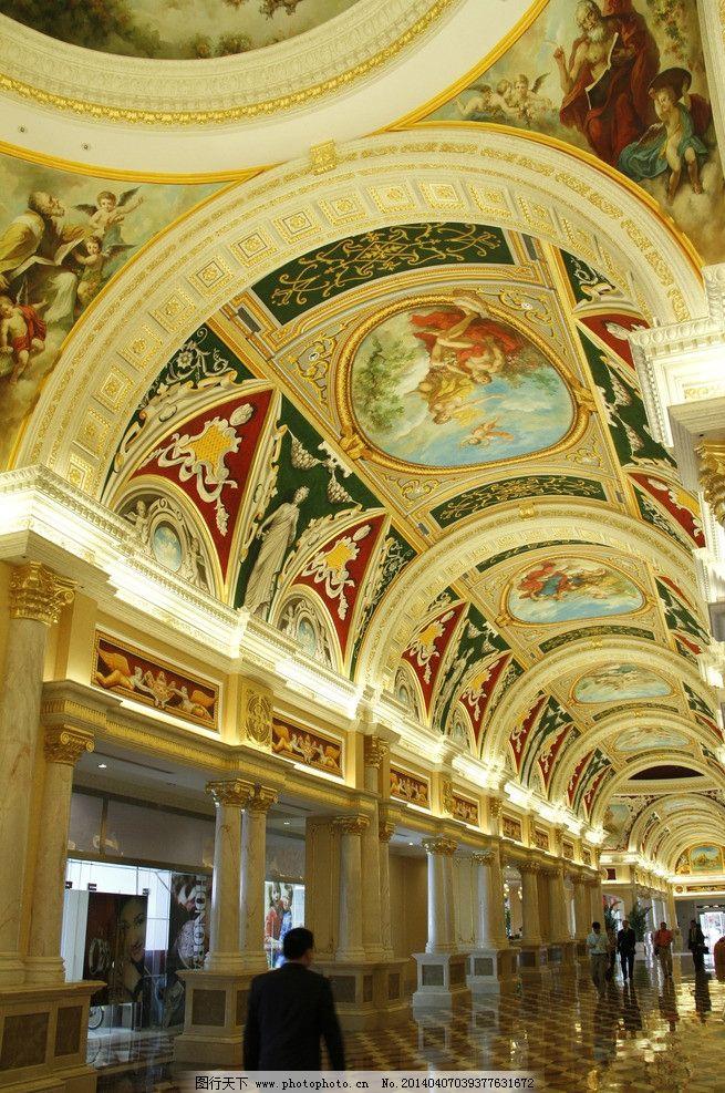 创世纪顶画 创世纪 顶画 壁画 欧式走廊 走廊 室内摄影 建筑园林 摄
