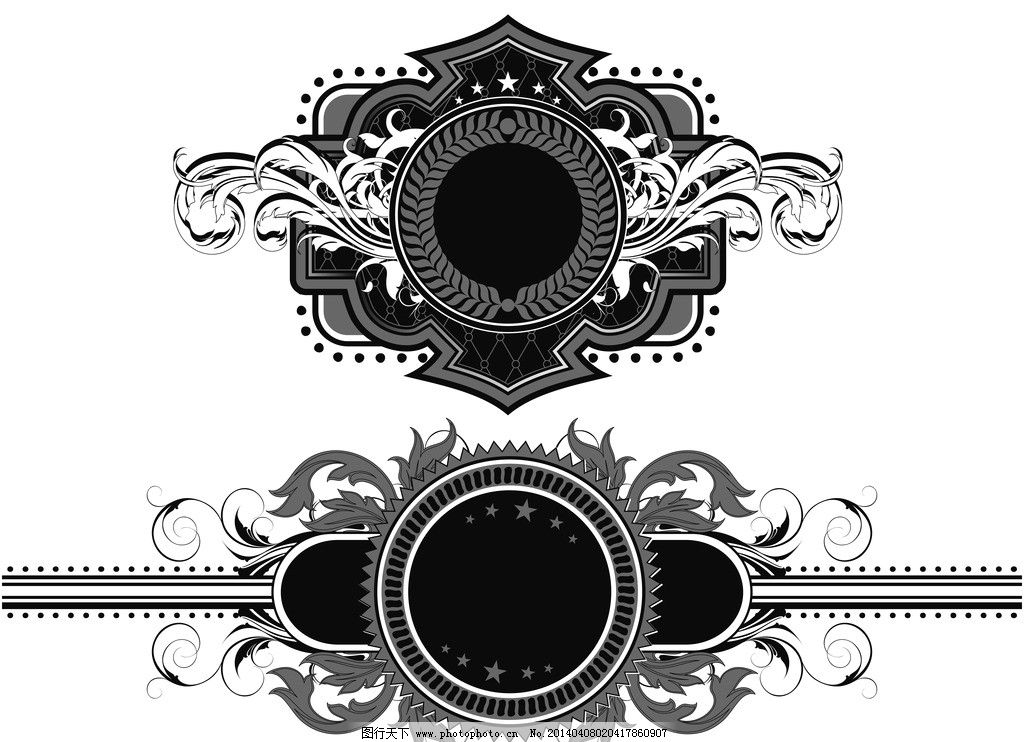 花纹盾牌 盾牌 装饰性盾牌 皇室 皇冠 纹身 欧式花纹 手绘 边框 花纹