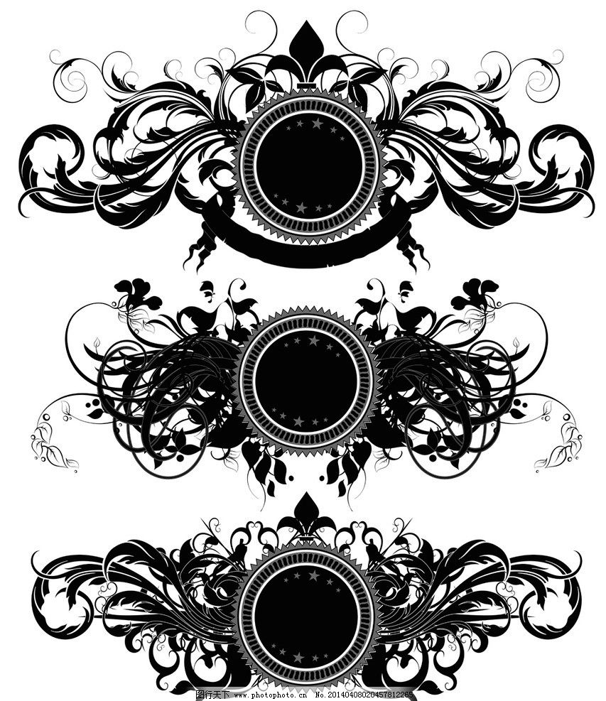 花纹盾牌 盾牌 装饰性盾牌 纹身 欧式花纹 手绘 边框 花纹花边 传统