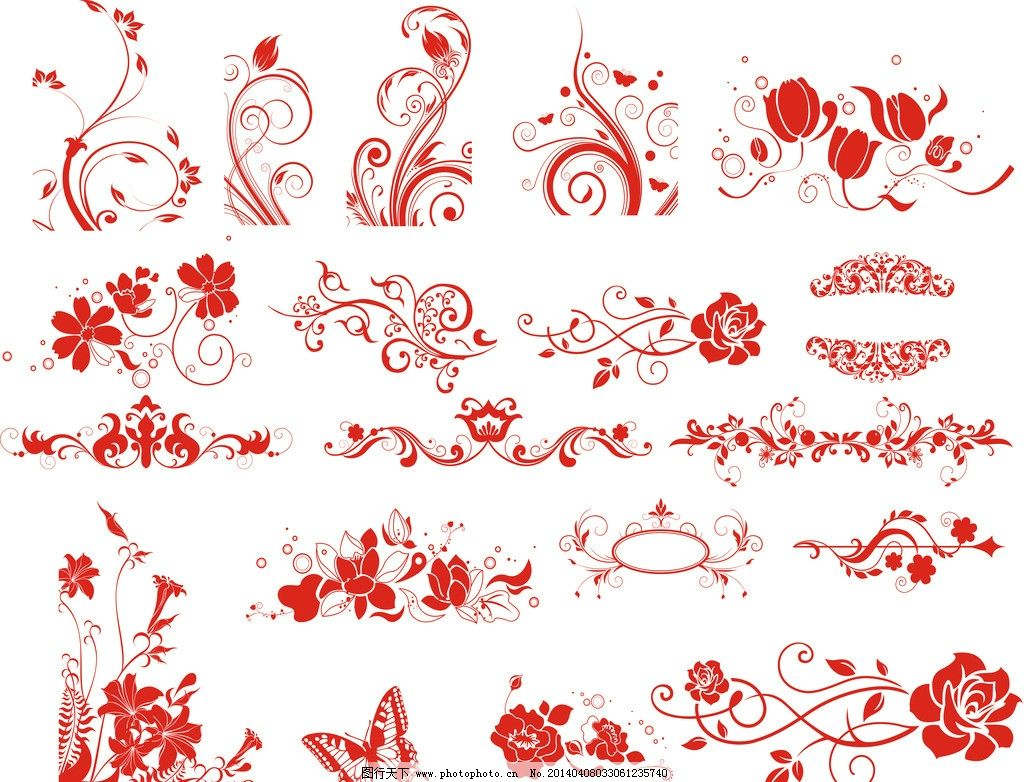 海報設計圖片手繪花邊