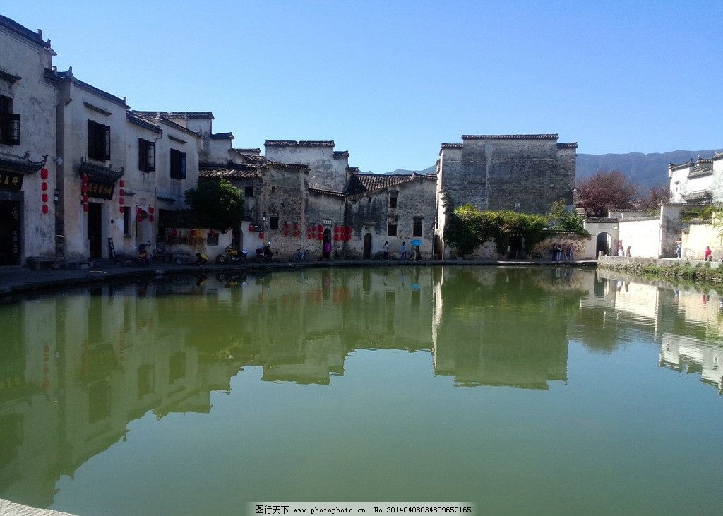 宏村风景图图片