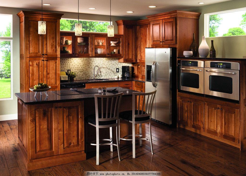 橱柜 厨柜 实木橱柜 欧式 美式 整体橱柜 室内摄影 建筑园林 摄影 543