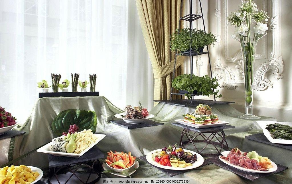 欧式室内风格的自助餐图片