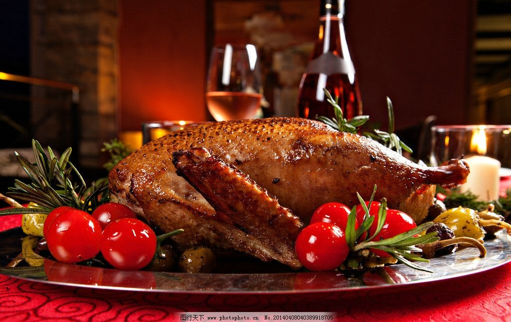 火鸡万圣节 万圣节 万圣节晚餐 火鸡 烤鸡 烧鸡 西餐 美食 食物 食品