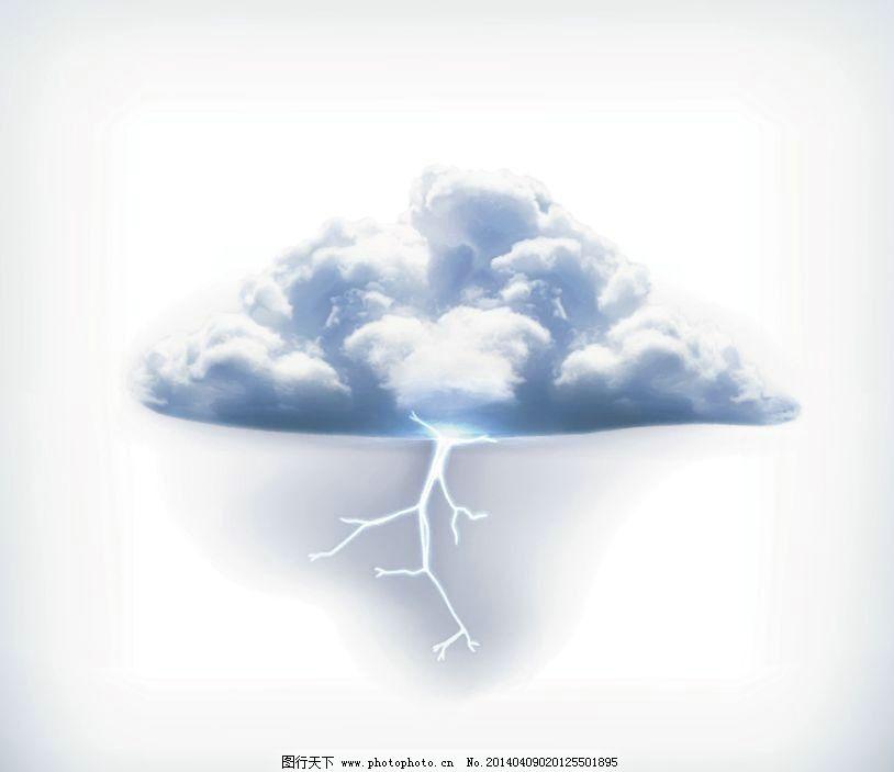 乌云下雨卡通图片